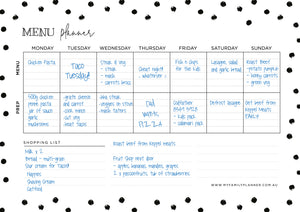 Monthly + Menu Planner Bundle