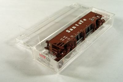 MTL-108120 - 100 Ton 3-Bay Open Hopper, Rib Sides, w/ Coal Load - Santa Fe Coal Car # 179655