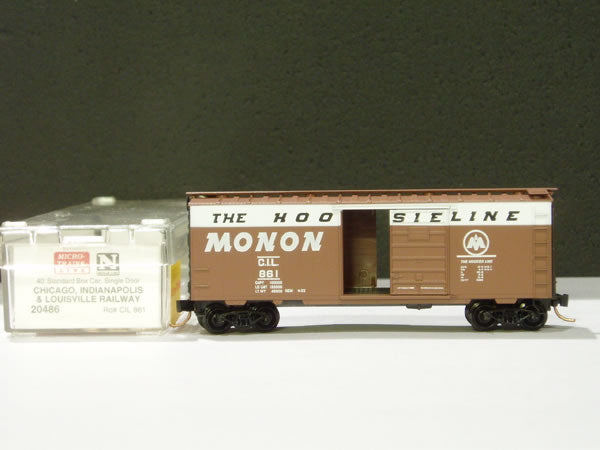 MTL-20486 - 40' Standard Box Car, Single Door - Chicago Indianapolis & Louisville #861