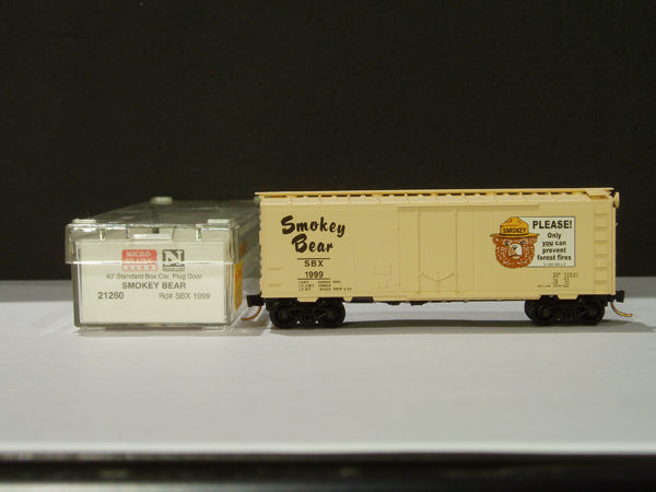 MTL-21260 - 40' Standard Box Car, Plug Door - Smokey The Bear #1999