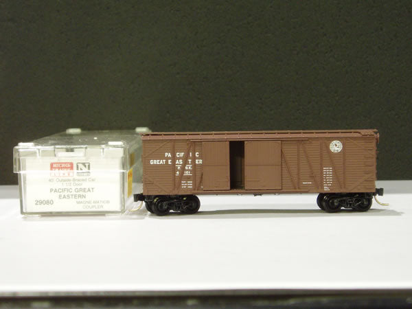 MTL-29080 - 40' Outside-Braced Box Car, 1-1/2 Door - PGE #4101