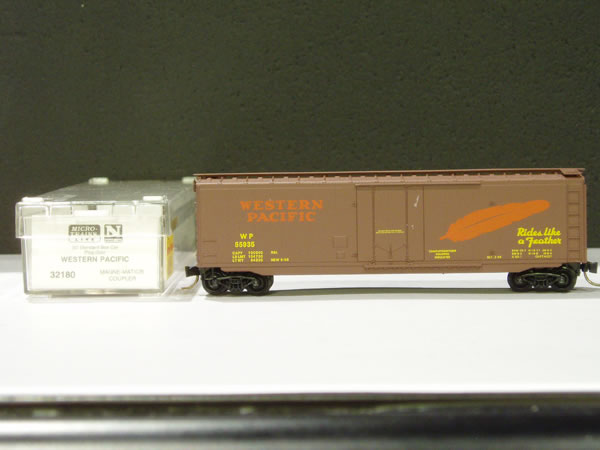 MTL-32180 - 50' Standard Box Car, Plug Door - Western Pacific #55943