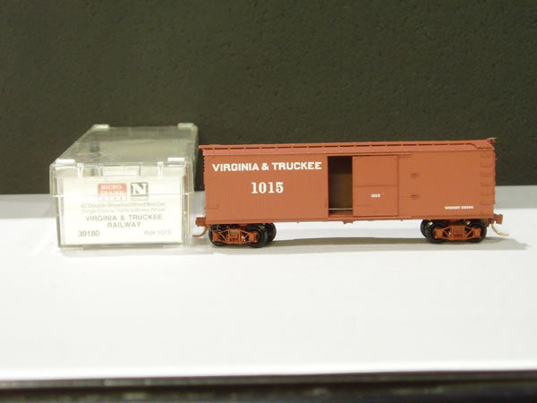 MTL-39180 - 40' Double-Sheathed Wood Box Car, Single Door, w/ Vertical Brake Wheel - Virginia & Truckee