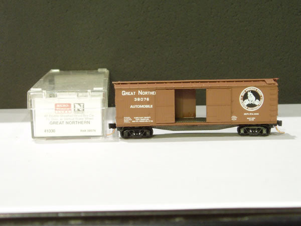 MTL-41030 - 40' Double-Sheathed Wood Box Car, 1-1/2 Door, w/ Vertical Brake Wheel - Great Northern