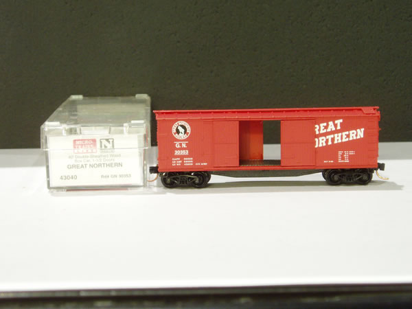 MTL-43040 - 40' Double-Sheathed Wood Box Car,1-1/2 Door, w/side mount brake wheel - Great Northern