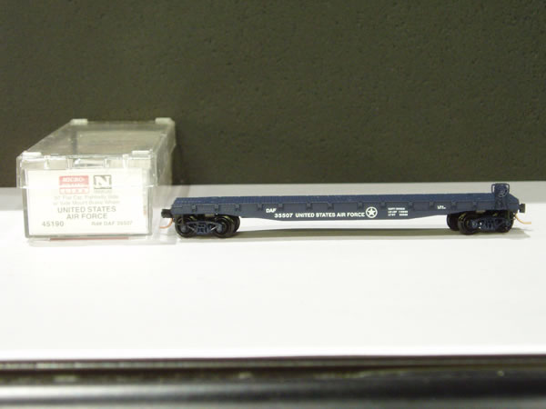 MTL-45190 - 50' Flat Car, Fishbelly Side, w/ Side Mount Brake Wheel - US Air Force
