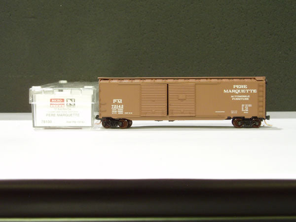 MTL-78100 - 50' Auto Box Car, Double Side Doors & End Door - Pere Marquette