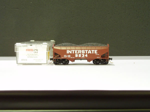 MTL-87010 - 33' Twin Bay Hopper, Notched Arch End, Offset Side - Interstate RR