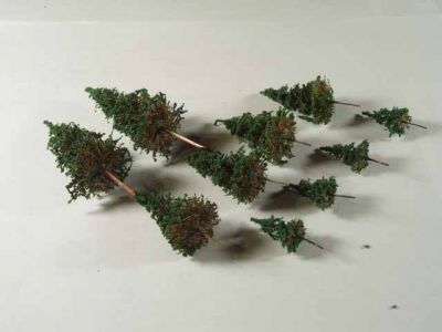 Pine Trees - Hand Made - 10 Pack