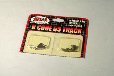 ATL-2090 - N Scale Code 55 Brass Rail Joiners - Pkg of 24