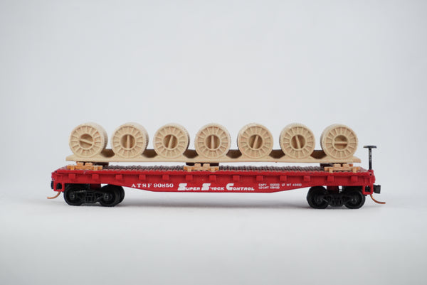Car-N-Bag - Bachmann®- Flatcar w/Micro-Trains trucks and couplers - No Box - ATSF #90850