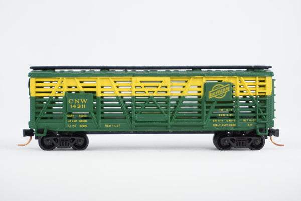 Car-N-Bag - Bachmann®- Stock Car w/Micro-Trains trucks and couplers - No Box - CNW #14311