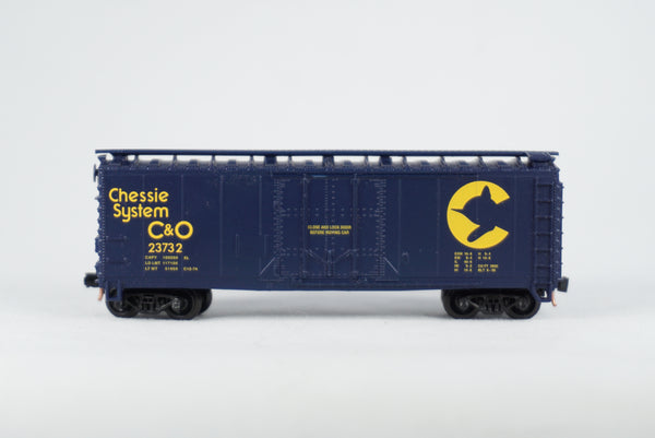 Car-N-Bag - Atlas®- Boxcar w/Micro-Trains trucks and couplers - No Box - C&O #23732