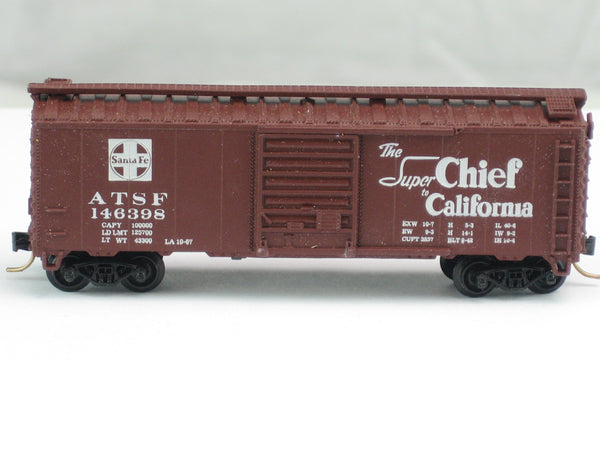 ATL-3419 - 40' Box Car - Santa Fe - 'Super Chief to California' w/Map - Road #146398