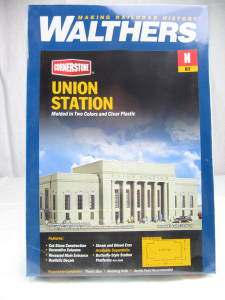 WLT-933-3257 - Union Station - N Scale Building Kit - Never opened sealed in box