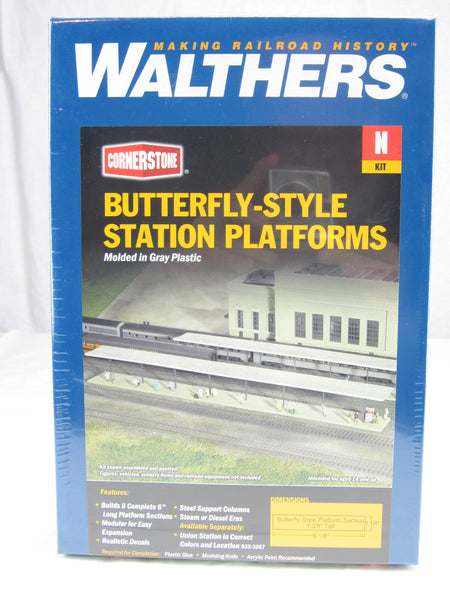 WLT-933-3258 - Butterfly-Style Station Platforms - N Scale Building Kit - Never opened sealed in box