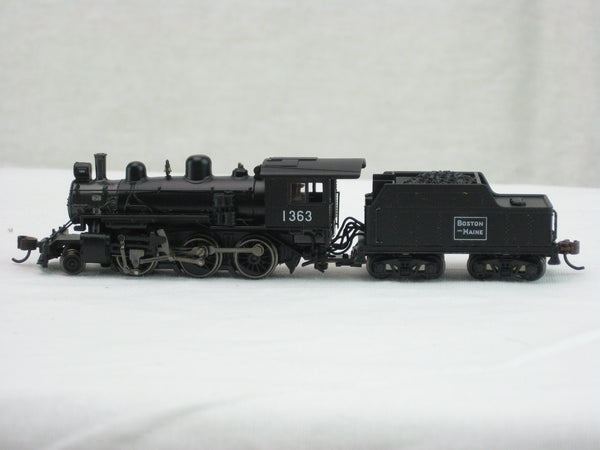 BCH-51756 - B&M Baldwin 4-6-0 Steam Locomotive- Road #1363 - N Scale