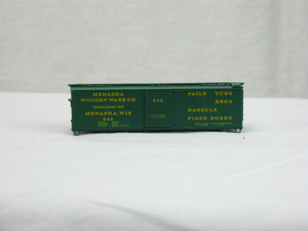 Car-N-Bag - MTL-42040 - Menasha Wooden Ware 40' Boxcar - Road #242 - N Scale