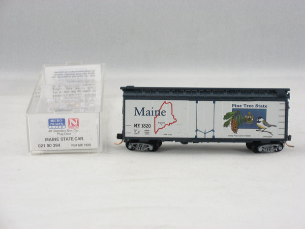 MTL-021 00 394 - 40' Standard Box Car, Plug Door - Maine State Car #1820