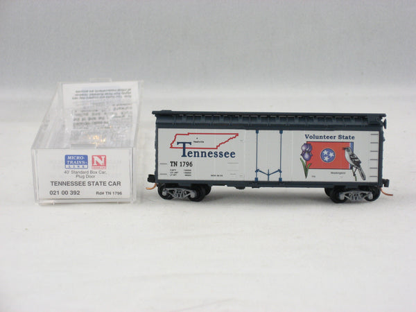 MTL-021 00 392 - 40' Standard Box Car, Plug Door - Tennessee State Car #1796