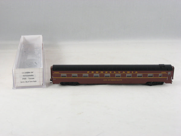 CCS - 6884-04 - PRR - Tuscan - 18 Roomette - Sleeper Car - Road# City of Terre Haute