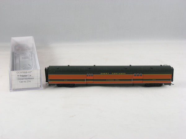 CCS - 7658-02 - GN - Baggage Car - Road# 274