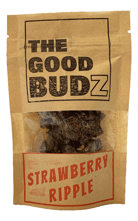 """Strawberry Ripple"" Hemp Flowers Tea UK - The Good Budz"