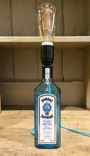Handcrafted Bombay Sapphire Gin Table Lamp