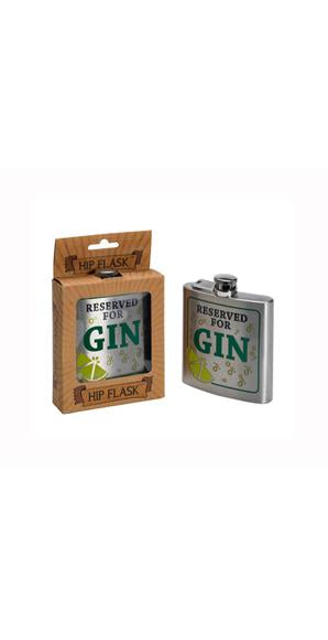 'Reserved for Gin' Hip Flask