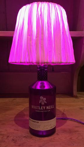 Handcrafted Whitley Neill Rhubarb & Ginger Gin Table Lamp