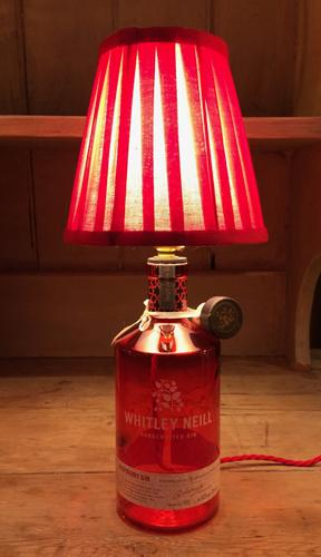 Handcrafted Whitley Neill Raspberry Gin Table Lamp