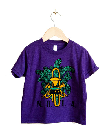 NOLA Banana Leaves & Brass Kids Tee