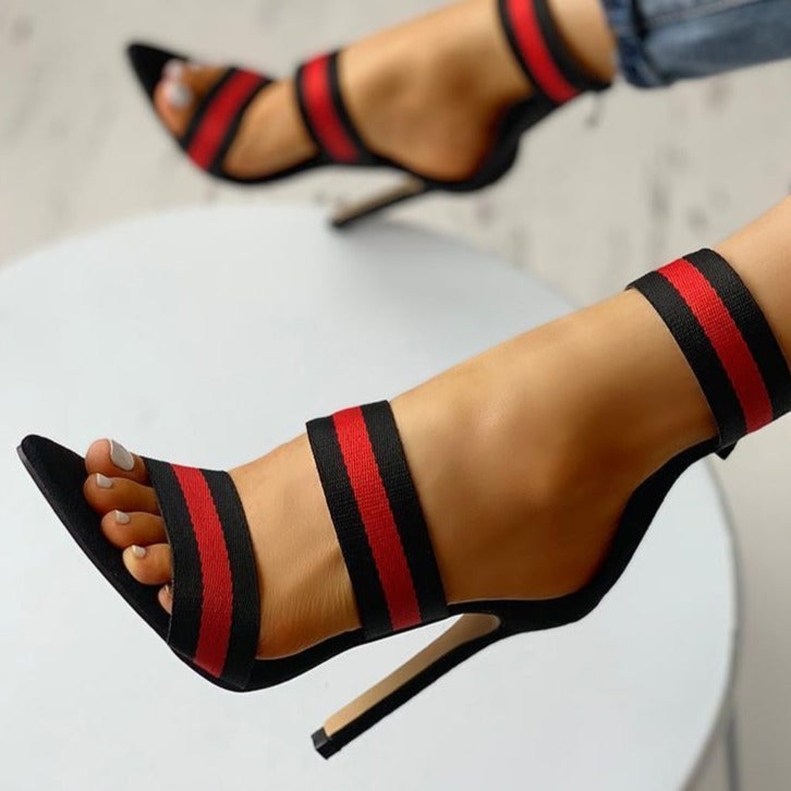 Gia's Color Strap Heels