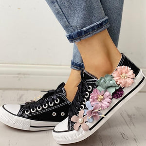Penelope's Floral Embellished Sneakers