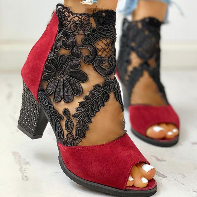Lucy's Lace Sandals