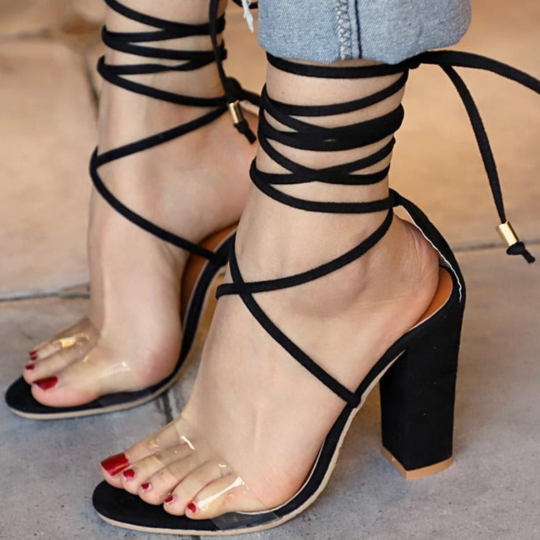 Angelina's Cross Tied Sandals