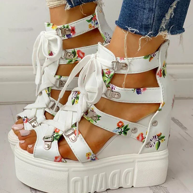 Tina's Lace Up Sandals