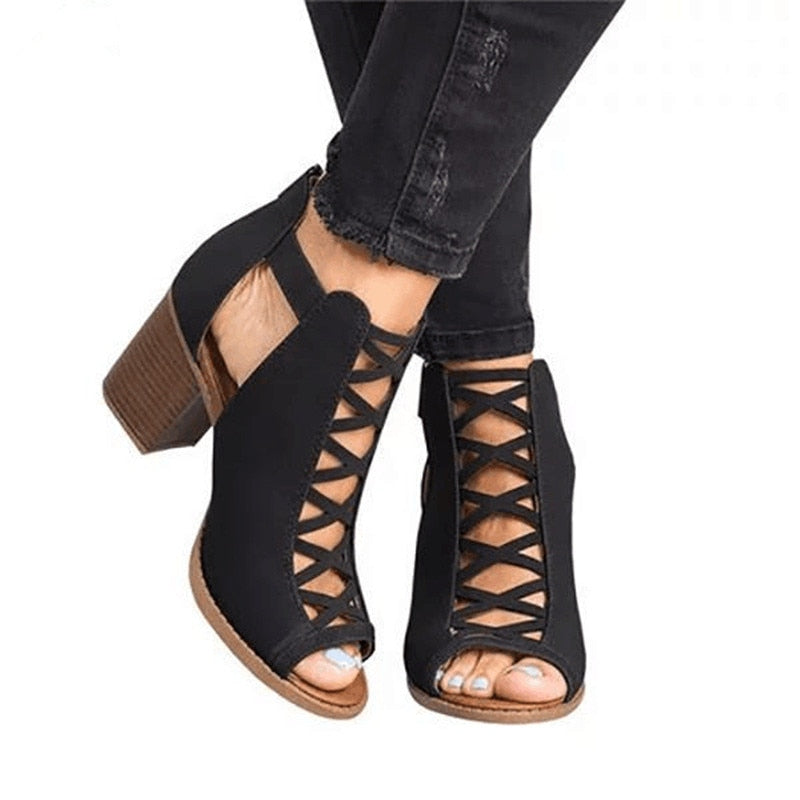 Aby's Lace Up Sandals