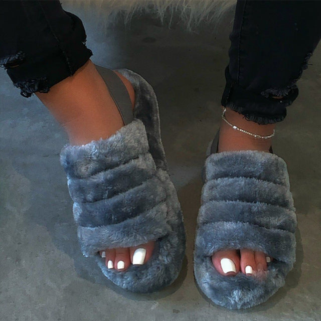 Nicky's Fur Sandals