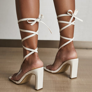 Thalia's Lace Up Heels