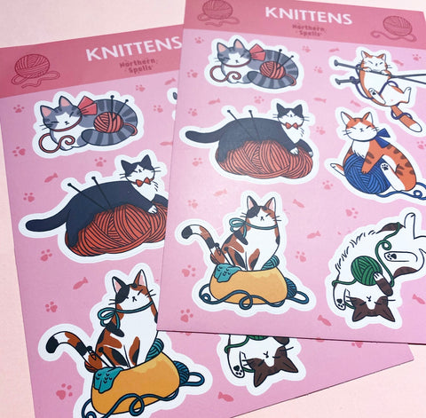 KNITTENS sticker sheet (S06)