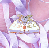 LavenderMoth pin  (NS105)