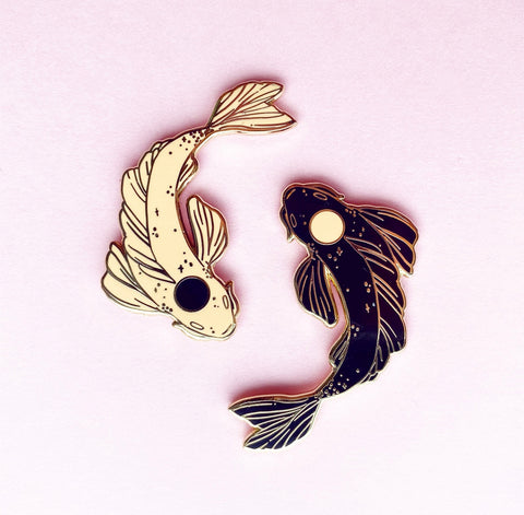 YinYang sunset Koi pins (NS111)