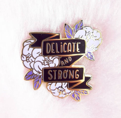 Delicate&Strong (Purple) pin - NS69