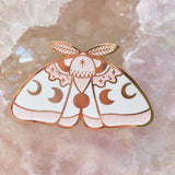 GlitterPink MoonMoth Pin   (NS14)