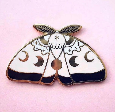 BlackCandy MoonMoth Pin  (NS05)