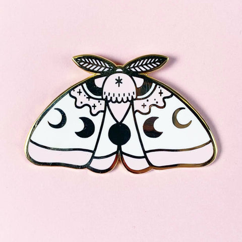 PinkMoonMoth pin  (NS41)