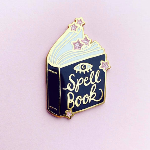 SpellBook pin w. glitter  (NS49)