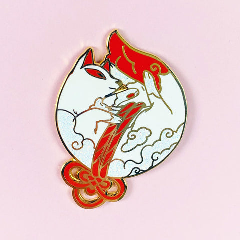 SleepyKitsune pin - NS44