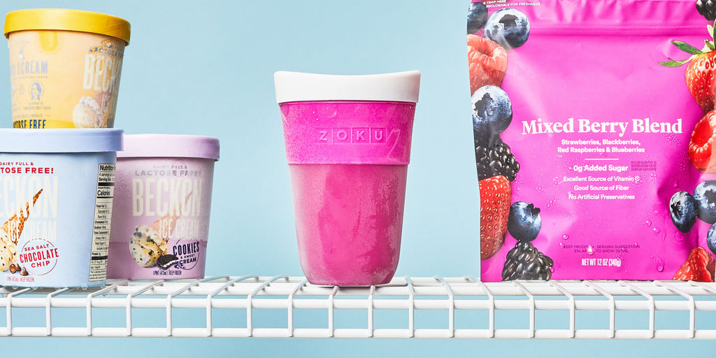 An image of the ZOKU Slush & Shake Maker's inner core in a freezer.